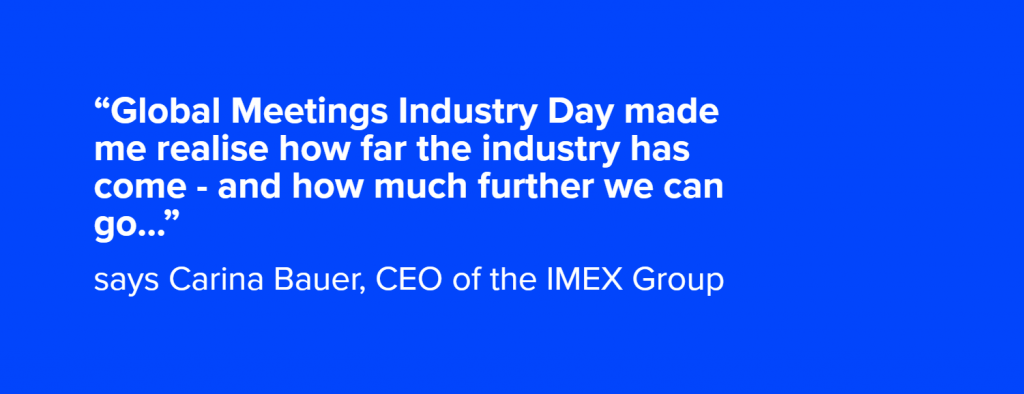 Carina Bauer CEO of the IMEX Group