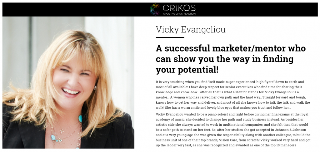 Vicky Evangeliou at CRIKOS