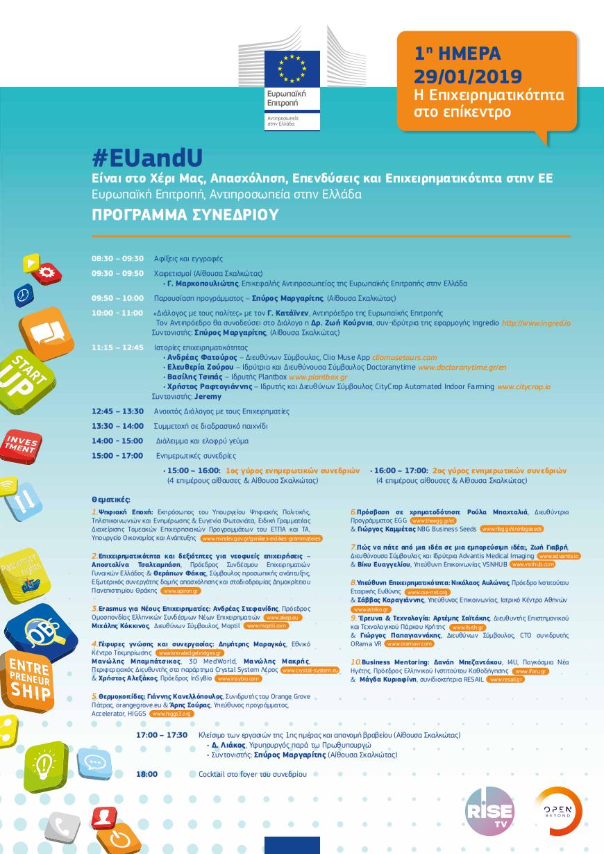 Ευρωπαϊκή Επιτροπή στην Ελλάδα EUandU Απασχόληση – Επενδύσεις & Επιχειρηματικότητα στην Ε.Ε. 1