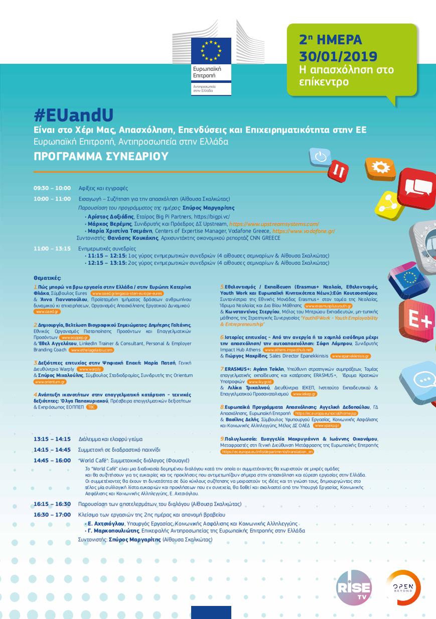 Ευρωπαϊκή Επιτροπή στην Ελλάδα EUandU Απασχόληση – Επενδύσεις & Επιχειρηματικότητα στην Ε.Ε. 2