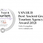 VSN HUB - Best Ancient Greek Tourism Agency Award- Vicky Evangeliou