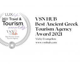 Best Ancient Greek Tourism Agency Award for VSN HUB