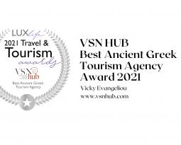 Best Ancient Greek Tourism Agency Award for VSN HUB